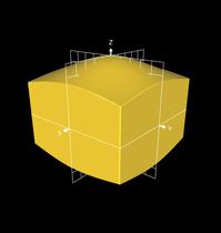 Projektion der Kugeloberfläche auf die Würfeloberfläche