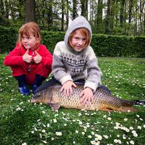 Rune Dessart, ons jongste lid (7 jr.) heeft zelfstandig een schub van 78cm binnengehaald! Keelkamp vijvers. 19/04/2020