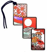 花札しおり 200円 丸型ポットボトル ハサミ アクリル絵の具 絵の具セット