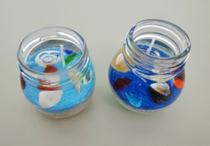 透明ジェルキャンドル(中に入れるビーズや貝殻)