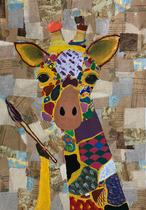 第63回全日本学生美術展 推奨作品 包装紙コラージュ絵画