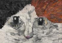 第63回全日本学生美術展 佳作作品 ティッシュのコラージュ作品