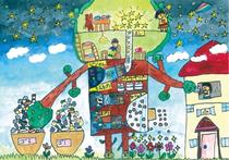 2018年度夏休みエコ絵画コンクール千葉県教育長賞受賞生徒作品