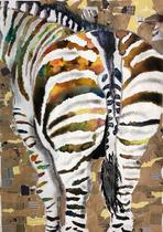 第63回全日本学生美術展 特選作品 半紙や布のコラージュ作品