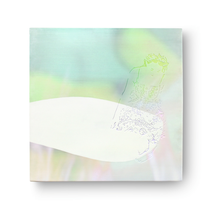 insel / es ist arg leise geworden     2018, 65 × 65 cm