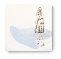 insel / flüstern.     2019, 70 × 70 cm