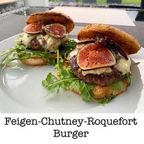 Feigen-Chutney-Roquefort Burger