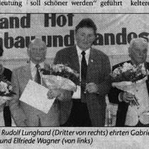 Doris Feustel wird neuer Vorstand und ehrt Gabriele Ruckdeschel