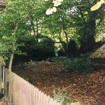 "Garten am Privateingang ""Villa Becher"" 1998/99 - vor der Kernsanierung"