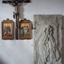 Grabplatte der seligen Hailwig um 1400