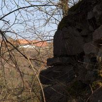Blick auf Hofgut und Schloß Hohenstein