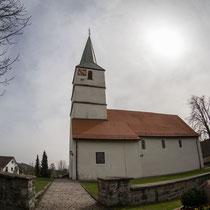 Die Kirche von Norden aus gesehen