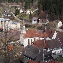 Blick auf die Kirche in Bettenhausen