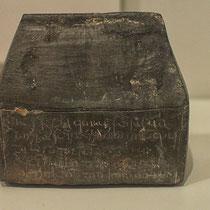 Reliqiuar in Gestalt einer Bleischachtel (1089) - jetzt im Diözesanmuseum Rottenburg