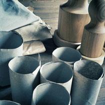 Anzuchttöpfe, mit Papierpresse hergestellt
