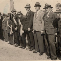 1951 von links Heinrich Kammradt,Otto Barge,August Kölln,Friedrich Quast,Hermann Emme,Heinrich Schulz,unbekannt,Gustav Mattisch,Werner Gehrke