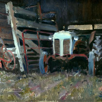 """Barn Find"" 9 x 12 oil"
