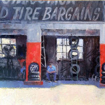"""Tire Bargains"" 12 x 16"