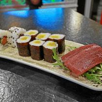 Sushi und Lachs