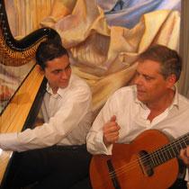duo lahoz lahoz-concert peinture