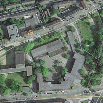 Ehemaliger Schulkomplex mit Baumbestand, Aufnahme-Datum: Google-Earth 2015