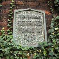 Informationstafel zum Schäferturm, der Turm diente dem Schäfer als Wohnung, Aufnahme-Datum: 06.11.2005