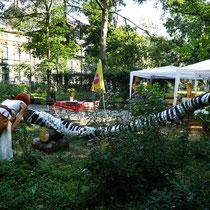 Vernissage im Garten der cubus kunsthalle, HK. 21.07.2017