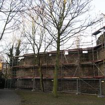 Sanierungsarbeiten an der Stadtmauer, Aufnahme-Datum: 14.01.2006