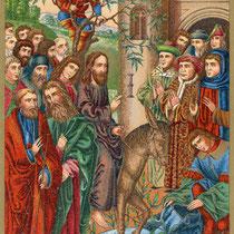Textillustration aus dem Neuen Testament des Dr. Martin Luther, Ausgabe 1890, Pasch-Verlag