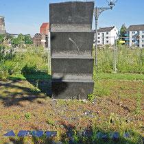 Anne Frank-Mahnmal aus schwarzem Granit von Heinz Mack, Aufnahme-Datum: 21.06.2020