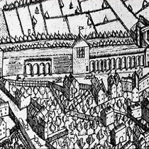 Detail Corputiusplan, der Schäferturm, 2. Turm links vom Kuhtor