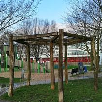 Informations-Standort für einen Wurzelteller einer Birke, Im Jahre 2020 war der Wurzelteller abgebaut. Aufnahme-Datum: 12.02.2020