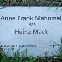 Informationstafel zum Anne-Frank-Mahnmal, Aufnahme-Datum: 21.06.2020