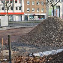 Der Posten während der Bautätigkeit zur Neugestaltung des Immanuel-Kant-Parks, Aufnahme-Datum: 08.09.2019