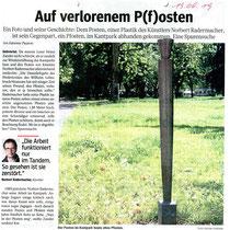 WAZ-Bericht vom 13.06.2019 zum verschwundenen Pendent des Posten