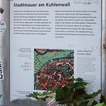 Informationstafel zur Stadtmauer, Standort am Rabbiner Neumark-Weg, Aufnahme-Datum: 221.06.2020