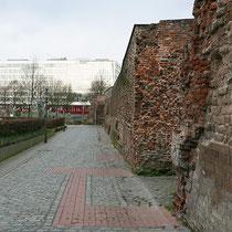 Blick entlang des Alten Wehrganges ohne die Säulenpappeln. Aufnahme-Datum: 22.02.2020