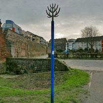Blick vom Endpunkt des Baum-Pfades (Koblenzer Turm), es fehlen die Säulenpappeln, wann und warum die Säulenpappel beseitigt wurde entzieht sich der Kenntnis des Verfassers,  Aufnahme-Datum: 22.02.2020
