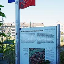Informationstafel zur Stadtmauer, Aufnahme-Datum: 21.06.2020