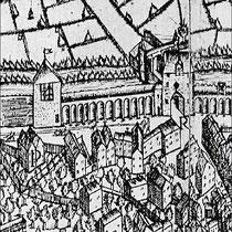 Detail Corputiusplan, am rechten Bildrand mit R gekennzeichnet, das Kuhtor.