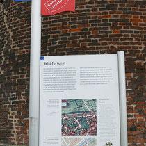 Informationstafel zur Stadtgeschichte am Schäferturm, Aufnahme-Datum: 24.02.2020
