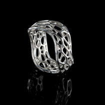 wave Ring - cell cycle - 925 Sterling Silber