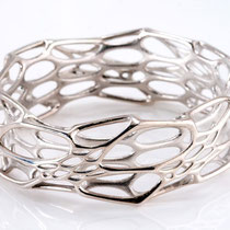 morph Armreif - cell cycle - 925 Sterling Silber