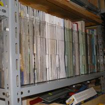 Reparto documentazione. Nella parte più chiara, tutti i bollettini ASN dal n°0 al n°74.