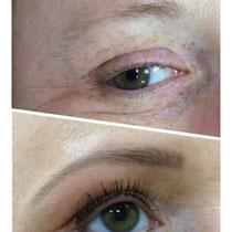 Permanent Make Up Lidstrich oben und unten Augenbrauen