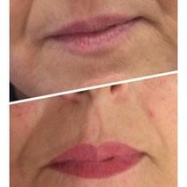 Permanent Make Up Lippen Teilschattierung