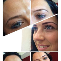 Permanent Make Up Augenbrauen und Lippenkontierung