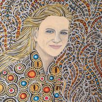"""""""Sophia"""" (2015), Acrylic on wood, 30 x 40 cm"""