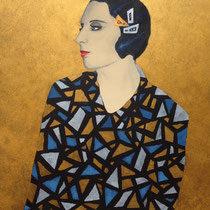 """Tamara de Lempicka"" (2016), Acrylic on wood, 50 x 60 cm - AVAILABLE"