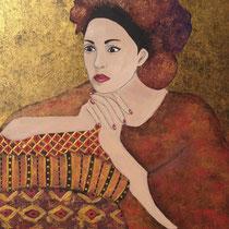 """""""Marrakesh II - Maya"""" (2015), Acrylic on wood, 50 x 40 cm"""